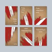 Latvia Patriotic Cards for National Day Expressive Brush Stroke in National Flag Colors on kraft