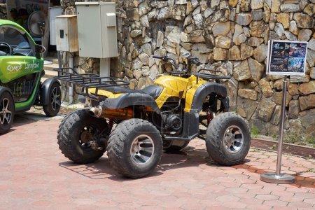 Yellow modern quadbike