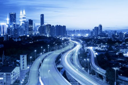 Kuala Lumpur skyline with city lights