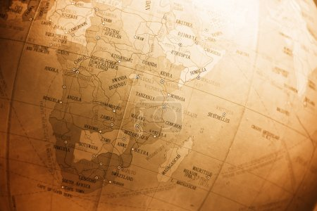 Weltkarte mit Schwerpunkt Afrika