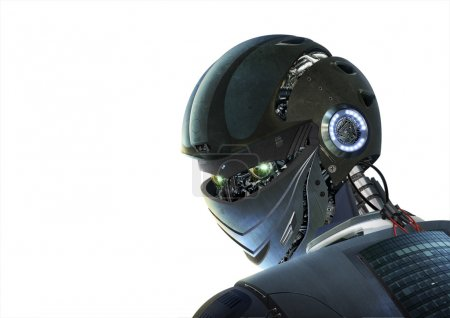 Photo pour Robot futuriste élégant dans les tons noirs - image libre de droit