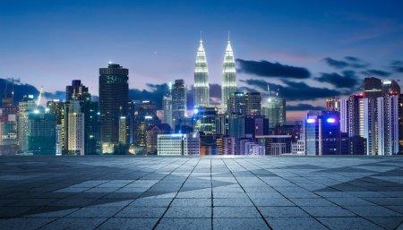 Lumpur Kuala lumières de nuit