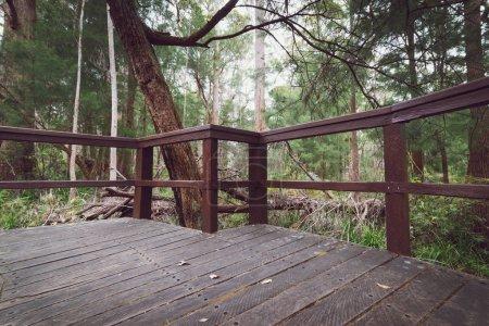 Balcon en bois en montagne