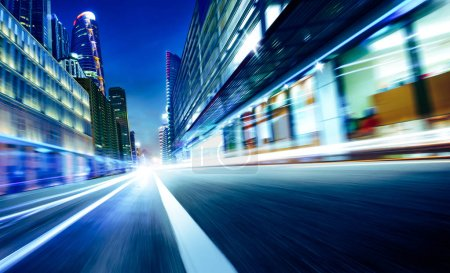 city street motion blur