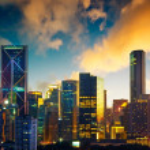 Kuala Lumpur City skyline with urban skyscrapers a...