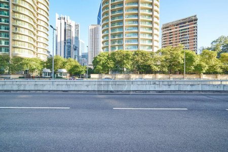 Photo for Empty asphalt road and modern buildings in Kuala Lumpur,Malaysia. - Royalty Free Image