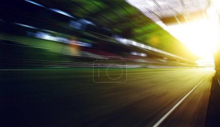 Motion blur racing circuit