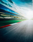 Motion blur racing circuit