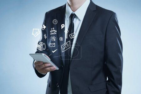 businessman using hand phone