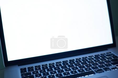 Laptop keyboard and blank screen
