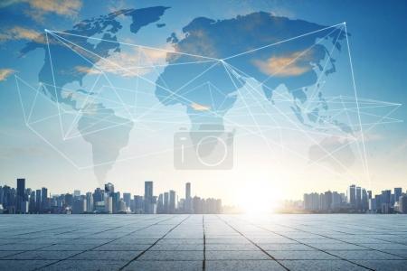 Smart city and wifi wireless internet