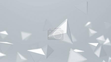 Abstract white triangles, geometric shapes