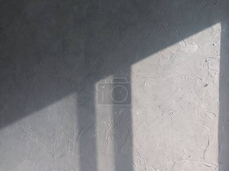 Photo for Light and shadow cast on cement wall - Royalty Free Image