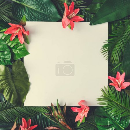 Creative layout made of tropical