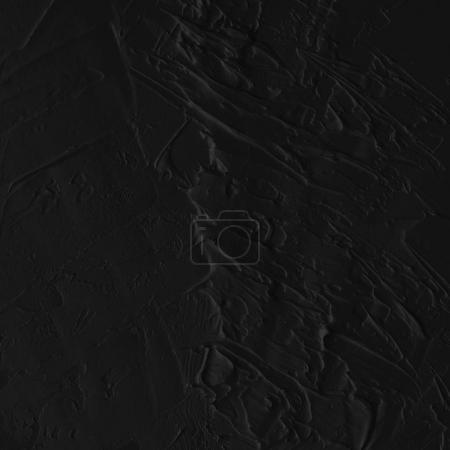 Photo pour Abstrait noir abstrait peinture à l'huile texture sur le mur - image libre de droit