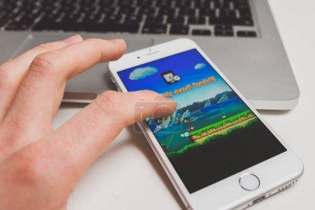 Super Mario Run game on iPhone