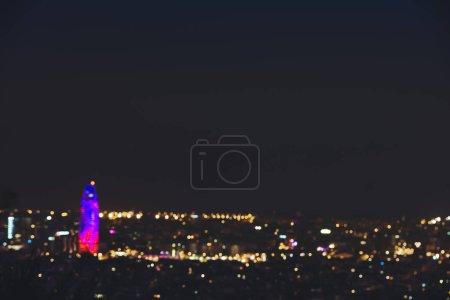 Defocused image of Barcelona