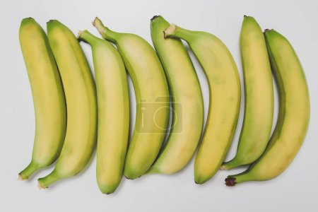 Foto de Colección de plátanos aislado sobre fondo blanco - Imagen libre de derechos
