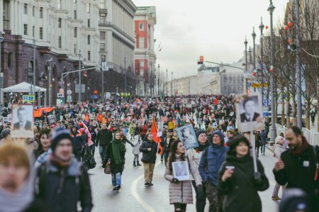 Procession in Victory Day, Moscow, Russia