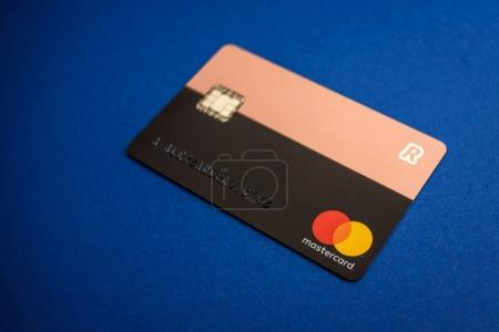 Closeup view of REVOLUT card
