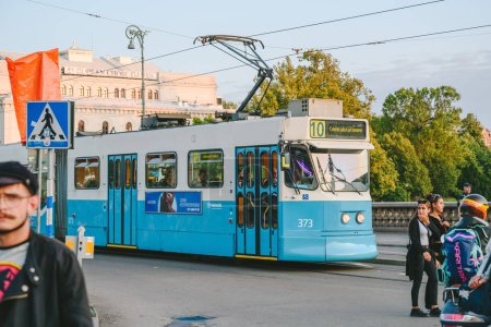 Photo for GOTHENBURG, SWEDEN - AUGUST 07, 2019: Tram traffic in Gothenburg city - Royalty Free Image