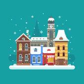 Winter City Background