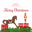 Christmas greetings with toys and gifts