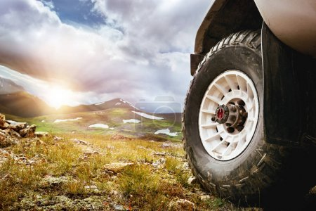 Big car wheel offroad concept