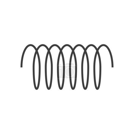 Illustration for Spiral vector icon, swirl line outline simple style isolated on white background - Royalty Free Image