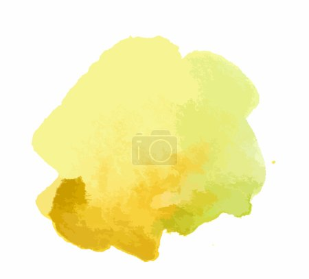 Watercolor yellow paint.