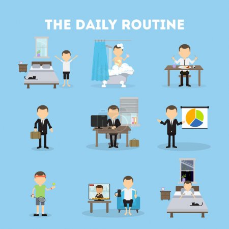 The daily routine.
