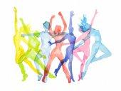 Watercolor dance set