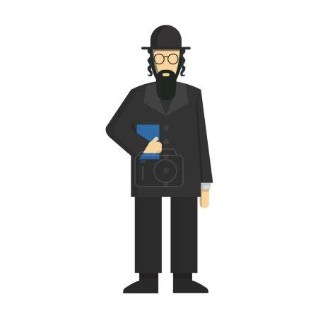 Isolated jewish rabbi.