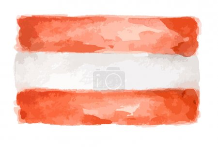 Watercolor isolated flag.
