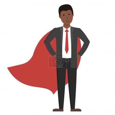 Businessman in red cape.