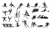 Set of winter sport icons vector illustration