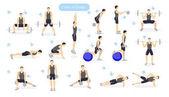 Leg workout set.