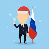 Russia December 12 2016 Vladimir Putin Russia president in santa hat