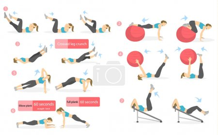 Abs workout for women.