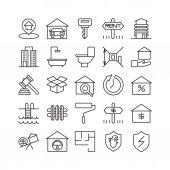 Real estate ikony