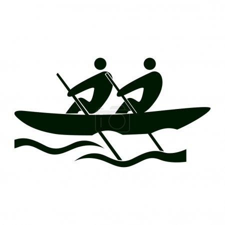 Isolated rowing icon.