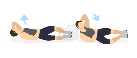 Abs exercise for men.