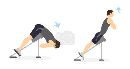 Back exercise for men.