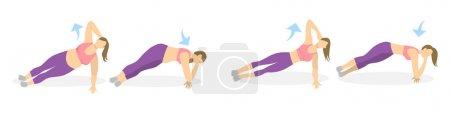 Body exercise for women.