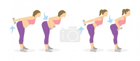 Back exercise for women.