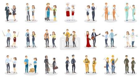 Photo pour Occupation des gens. Hommes et femmes ayant un emploi différent . - image libre de droit