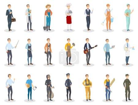 Photo pour Occupation des gens. Hommes ayant un emploi différent . - image libre de droit