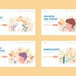 Medical specialties web banner concept set. Dentis...