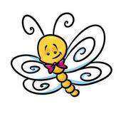 Fumetto della farfalla dellinsetto