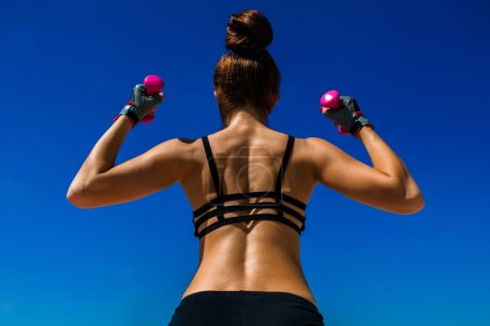 woman involved in fitness
